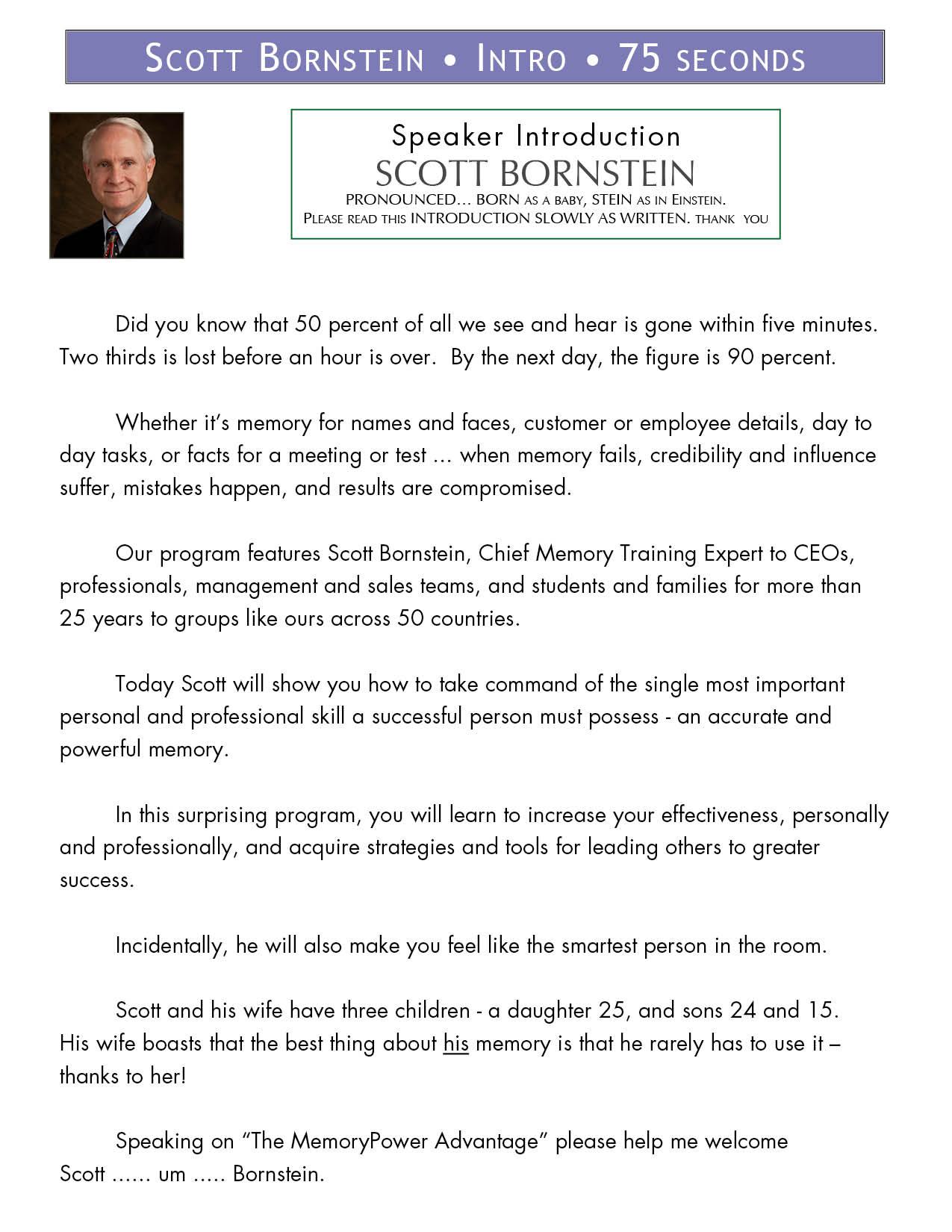 About Scott « Memory Power